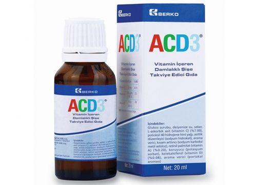 ACD3 Vitamin İçeren Damlalıklı Şişe Takviye Edici Gıda 20 ml Kullananlar