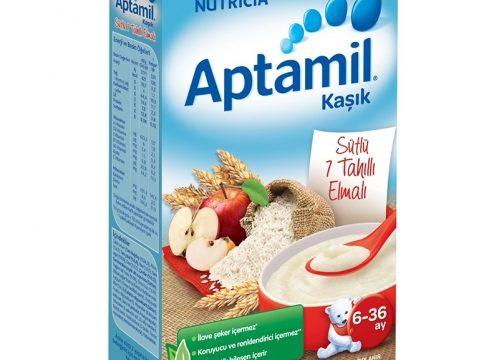 Aptamil Kaşık Sütlü 7 Tahıllı Elmalı 250gr 6-36 Ay
