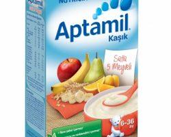 Aptamil Sütlü 5 Meyveli Tahıl Bazlı Kaşık Mama 250 gr | 6-36 ay