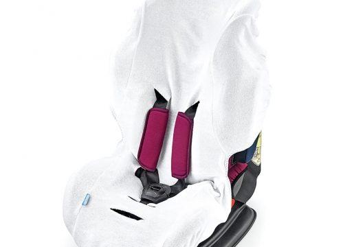 BabyJem Örme Havlu Oto Koltuğu Kılıfı – Beyaz Renk