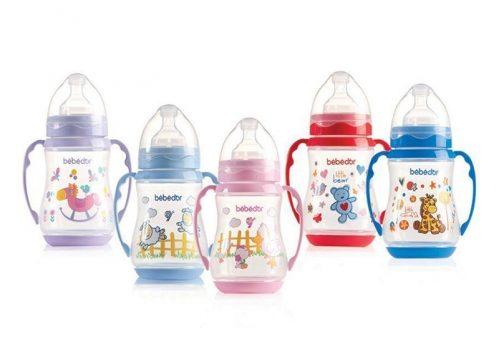 Bebedor Desenli Geniş Ağız Kulplu Biberon 250 ml