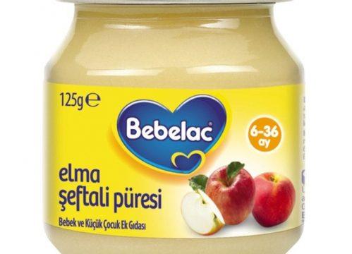 Bebelac Elma Şeftali Püresi 125 gr | +6 Ay