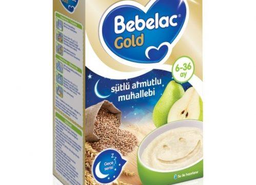 Bebelac Gold Sütlü Armutlu Muhallebi Kaşık Maması (Gece) 250 gr | 6-36 ay