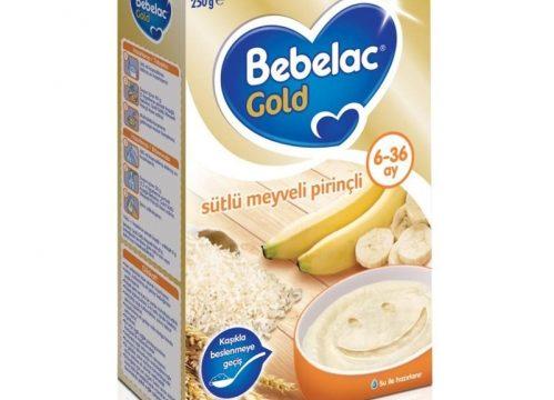 Bebelac Gold Sütlü Meyveli Pirinçli Kaşık Maması 250 gr   6-36 ay