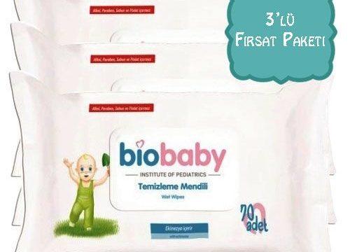 Biobaby Temizleme Mendili 3lü Fırsat Paketi