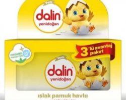 Dalin Yenidoğan Islak Pamuk Havlu 3lü Avantaj Paketi