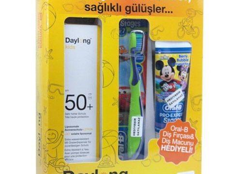 Daylong Kids Spf50 Güneş Losyonu 150ml + Oral B Diş Fırçası ve Diş Macunu Hediyeli