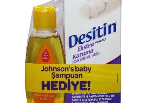 Desitin Ekstra Koruma Pişik Bakım Kremi 75ml Johnsons Baby Şampuan 50 ml HEDİYE