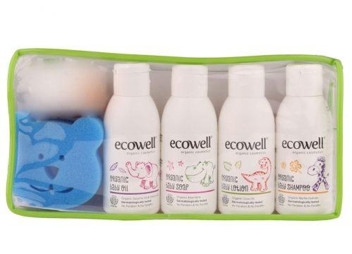 Ecowell Organik Bebek Bakım Seti ( Mavi )