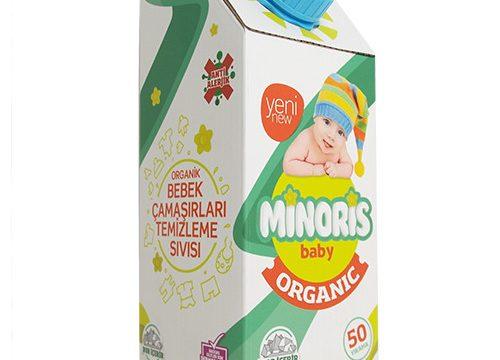 Minoris Baby Organik Bebek Çamaşırları Temizleme Sıvısı Deterjanı 1Lt