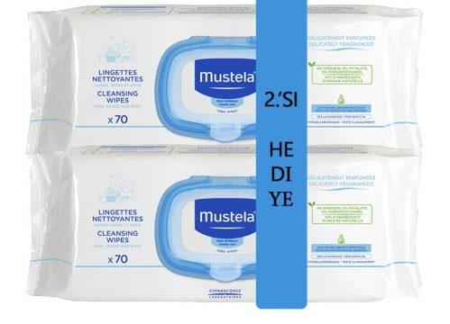 Mustela Clean & Soothing Wipes 70 Adet 2.si HEDİYE