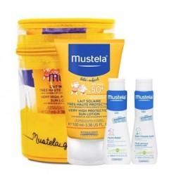 Mustela Güneş Losyonu SPF50+ 100ml +Hydra Bebe 50ml+Dermo Cleansing 50ml Hediyeli