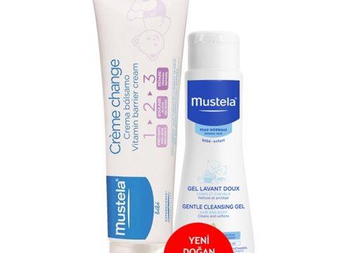 Mustela Vitamin Barrier 1-2-3 Cream 50ml | Cleansing GEL – Yeni Doğan Şampuanı 50ml HEDİYE
