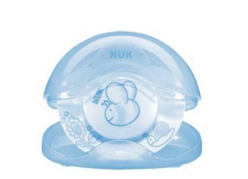 NUK Baby Blue Kutulu Silikon Uyku Emziği No:1