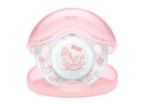 NUK Baby Rose Kutulu Silikon Uyku Emziği No:1