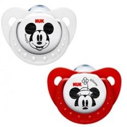 Nuk Disney Mickey Silikon Emzik- İkili Paket