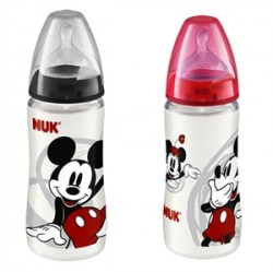Nuk First Choice Plus Mickey Biberon Silikon Emzikli 300mL