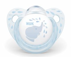 NUK Silikon Emzik Baby Blue 0-6 Ay Tekli