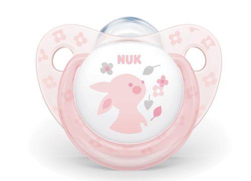 NUK Silikon Emzik Baby Rose 6-18 Ay Tekli