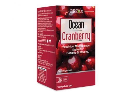 Orzax Ocean Cranberry Turna Yemişi Ekstresi 30 Tablet Takviye Edici Gıda Kullananlar