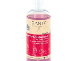 Sante Çocuk Şampuan ve Duş Jeli Organik Ahududu & Aloe Vera 200ml
