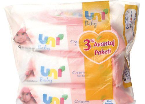 Uni Baby 3lü Avantaj Paketi Cream Islak Bebek Havlusu 3 x 56 Adet