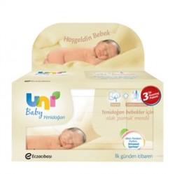 Uni Baby Islak Pamuk Mendil 3×40 Adet