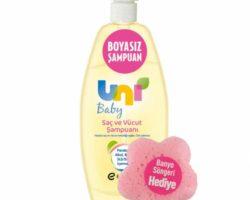 Uni Baby Şampuan 750ml Banyo Süngeri Hediye