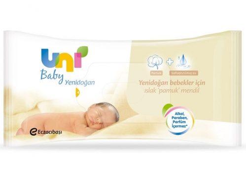 Uni Baby Yenidoğan Islak Pamuk Mendil 40 Adet