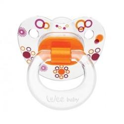 Wee Baby Şeffaf Desenli Damaklı Emzik 6-18 Ay