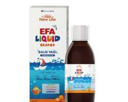 New Life Efa Liquid Balık Yağı Sıvı 150 ml – Portakal Kullananlar